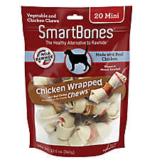 SmartBones® Chicken Wrapped Mini Chews Dog Treat - Chicken