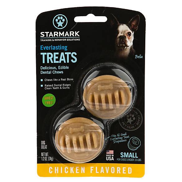 Starmark Everlasting Treats Dog Toy Treat Insert Chicken Flavor