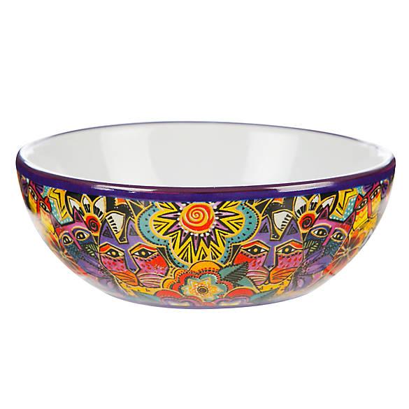 Laurel burch carlotta cat bowl cat food water bowls for Fish bowl petsmart