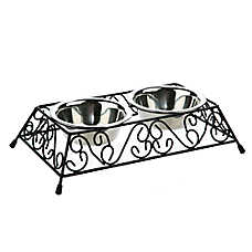 Whisker City™ Scroll Double Diner Cat Bowl