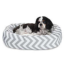 Majestic Pet Chevron Sherpa Bagel Dog Bed