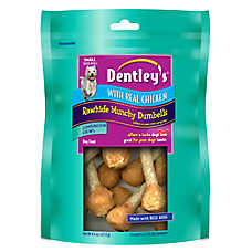Dentley's® Chicken Rawhide Munchy Dumbell Dog Treat