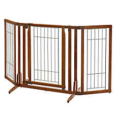 Richell® Premium Plus Freestanding Pet Gate with Door