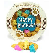 Claudia's Canine Cuisine Blue Birthday Cookie Dog Treat