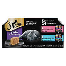 Sheba® Perfect Portions Salmon, Whitefish & Tuna Multipack Pate Cat Food