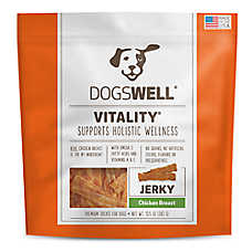 DOGSWELL® Vitality Dog Treat - Holistic, Natural, Chicken Breast Jerky