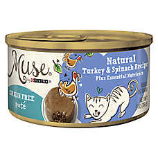 Muse® Adult Cat Food - Grain Free, Essential Nutrients, Natural Turkey & Spinach