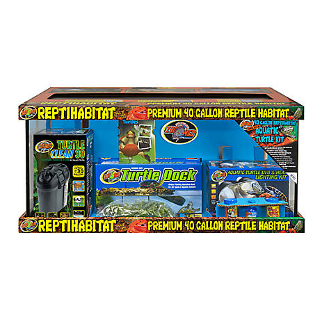 Zoo Med 40 Gallon Turtle Aquatic Kit Reptile Terrariums