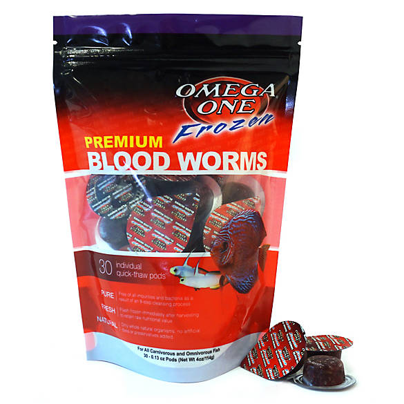 Omega one frozen blood worms fish food fish food petsmart for Bloodworms fish food