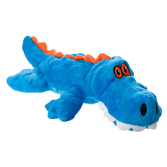 Top paw tuff chewguard gator dog toy squeaker color for Fish dog toy