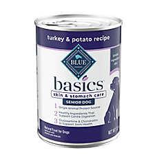 BLUE Basics® Limited Ingredient Grain Free Turkey & Potato Senior Dog Food