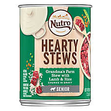 NUTRO™ Hearty Stews Senior Dog Food - Natural, Grandma's Farm Stew Lamb & Rice