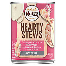 NUTRO™ Hearty Stews Senior Dog Food - Natural, Grandma's Country Stew Chicken & Turkey