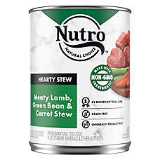NUTRO™ Hearty Stews Adult Dog Food - Natural, Meaty Lamb & Rice Stew