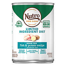 NUTRO™ Limited Ingredient Diet Adult Dog Food - Natural, Grain Free, Fish & Potato