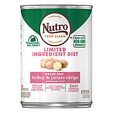 NUTRO™ Limited Ingredient Diet Adult Dog Food - Natural, Grain Free, Turkey & Potato