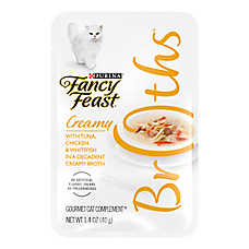 Fancy Feast® Creamy Broths Tuna, Chicken & Whitefish Cat Treat
