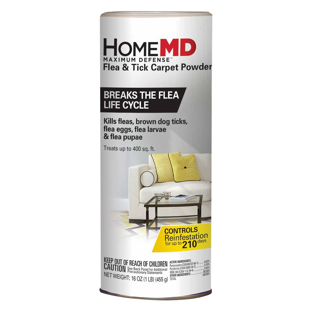 Home Md Maximum Defense Flea Tick Carpet Powder