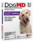 Dog MD™ Maximum Defense 33-66 Lb Dog Flea & Tick Treatment