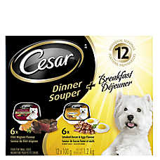 Cesar® Dinner & Breakfast 12 Pack Small Breed Dog Food