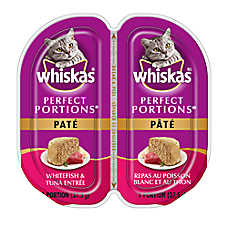 WHISKAS® Perfect Portions Whitefish & Tuna Pate Cat Food
