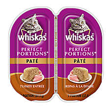 WHISKAS® Perfect Portions Turkey Pate Cat Food