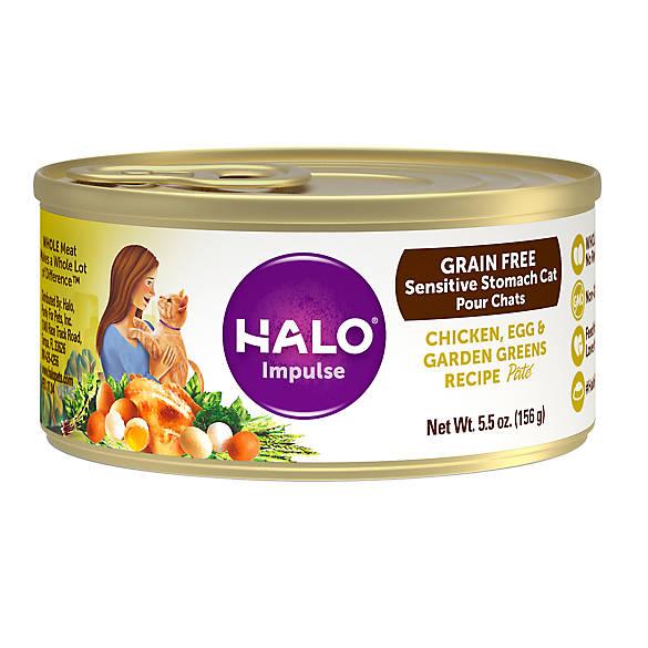 Halo 174 Impulse Sensitive Stomach Cat Food Natural Grain