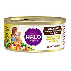 HALO® Impulse Sensitive Stomach Cat Food - Natural, Grain Free, Chicken, Egg & Garden Greens Pate