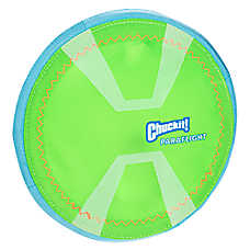 Chuckit!® Max Glow™ Paraflight Flying Disc Dog Toy