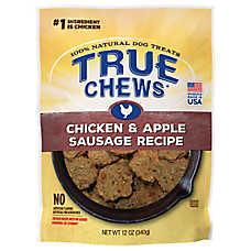 True Chews® Premium Sizzlers Dog Treat - Natural, Chicken & Apple
