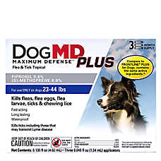 Dog MD™ Maximum Defense Plus 23-44 Lb Dog Flea & Tick Treatment (Compare to FRONTLINE® Plus)