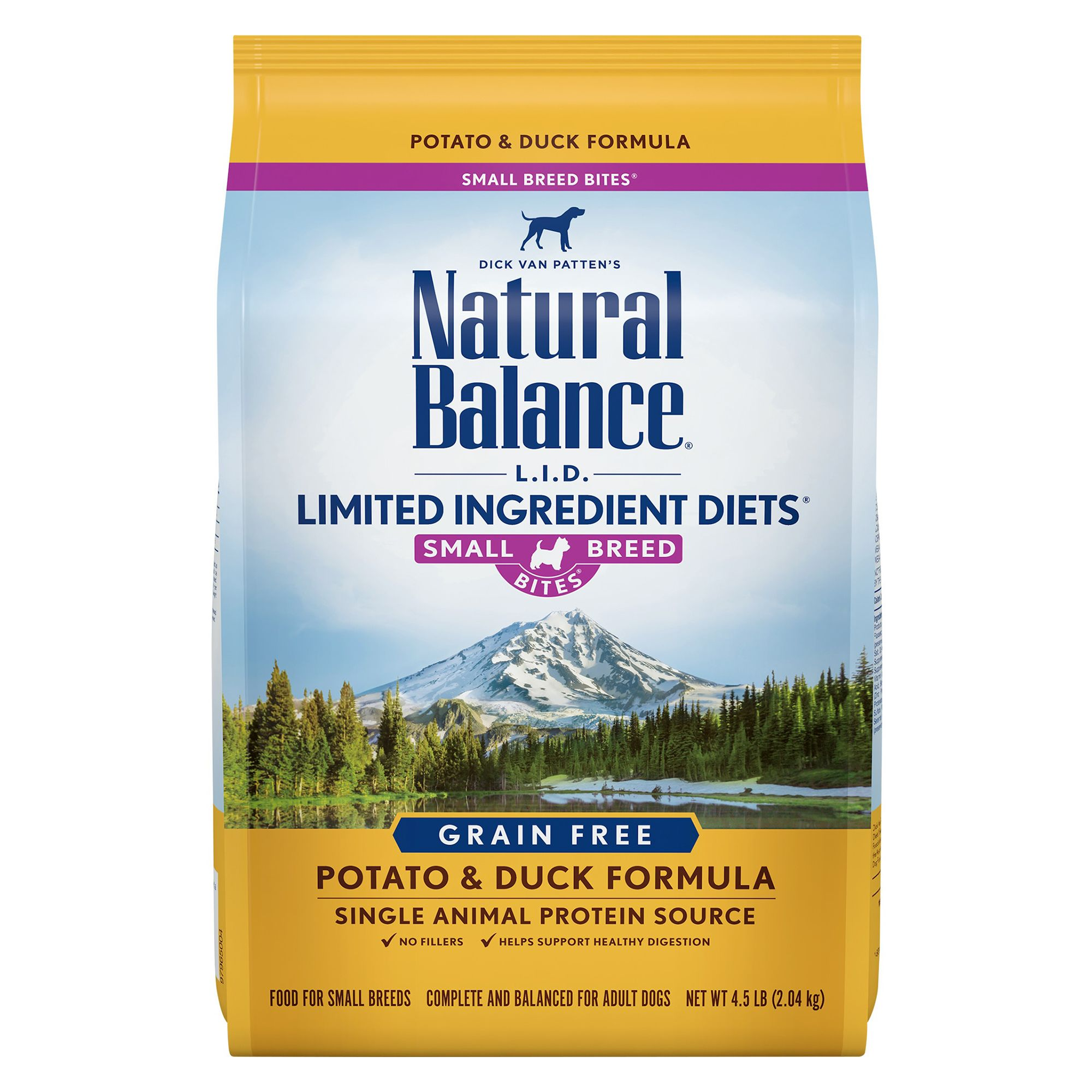 Natural Balance 4.5Lb Limited Ingredient Diets Dog Food - Grain Free, Potato & Duck, Small Breed