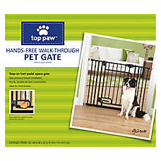 Top Paw Hands-Free Walk-Through Pet Gate