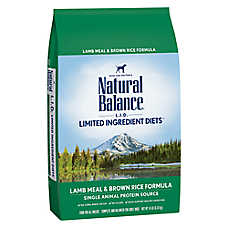 Natural Balance Limited Ingredient Diets Dog Food - Lamb Meal & Brown Rice