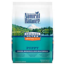 Natural Balance Original Ultra Whole Body Health Puppy Food- Gluten Free, Chicken, Brown Rice & Duck
