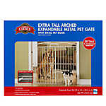 Grreat Choice® Extra Tall Arched Expandable Metal Gate with Pet Door