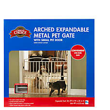 Grreat Choice® Arched Expandable Metal Gate with Pet Door