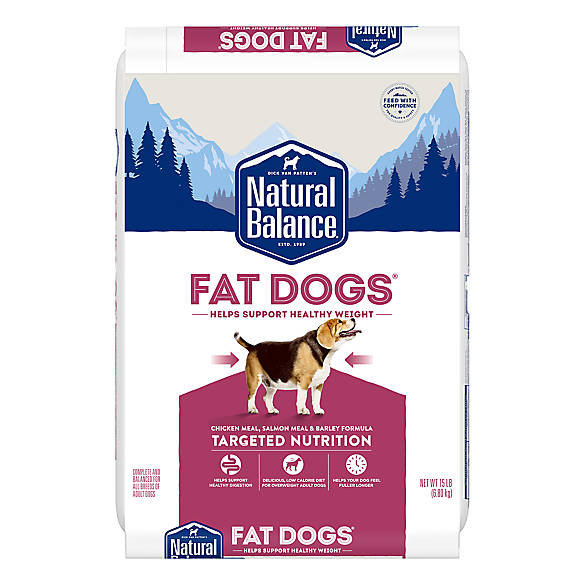 Natural Balance Fat Dogs Adult Dog Food Chicken Meal Salmon Meal