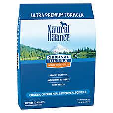 Natural Balance Original Ultra Whole Body Health Dog Food- Gluten Free, Chicken, Chicken & Duck Meal