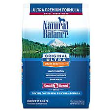 Natural Balance Original Ultra Dog Food - Gluten Free, Chicken, Chicken & Duck Meal, Small Breed