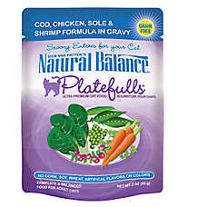 Natural Balance Platefulls Adult Cat Food - Grain Free, Cod, Chicken, Sole & Shrimp