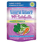Natural Balance Platefulls Indoor Adult Cat Food - Grain Free, Turkey & Duck