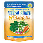 Natural Balance Platefulls Cat Food - Grain Free, Turkey, Chicken & Duck