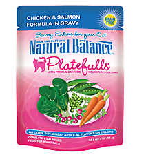 Natural Balance Platefulls Adult Cat Food - Grain Free, Chicken & Salmon