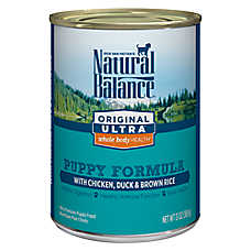 Natural Balance Original Ultra Whole Body Health Puppy Food- Gluten Free, Chicken, Duck & Brown Rice