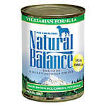 Natural Balance Dog Food - Vegetarian, Vegan