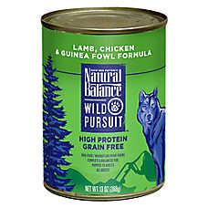 Natural Balance Wild Pursuit Dog Food - High Protein, Grain Free, Lamb, Chicken & Guinea Fowl