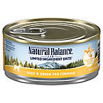 Natural Balance Limited Ingredient Diets Cat Food - Grain Free, Duck & Green Pea