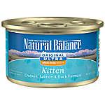 Natural Balance Original Ultra Whole Body Health Kitten Food - Gluten Free, Chicken, Salmon & Duck