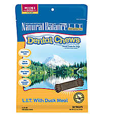 Natural Balance Limited Ingredient Grain Free Duck Meal Mini Dog Dental Chews